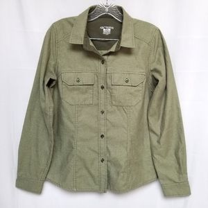NWOT Arc'teryx Olive Green Button Up Long Sleeve M